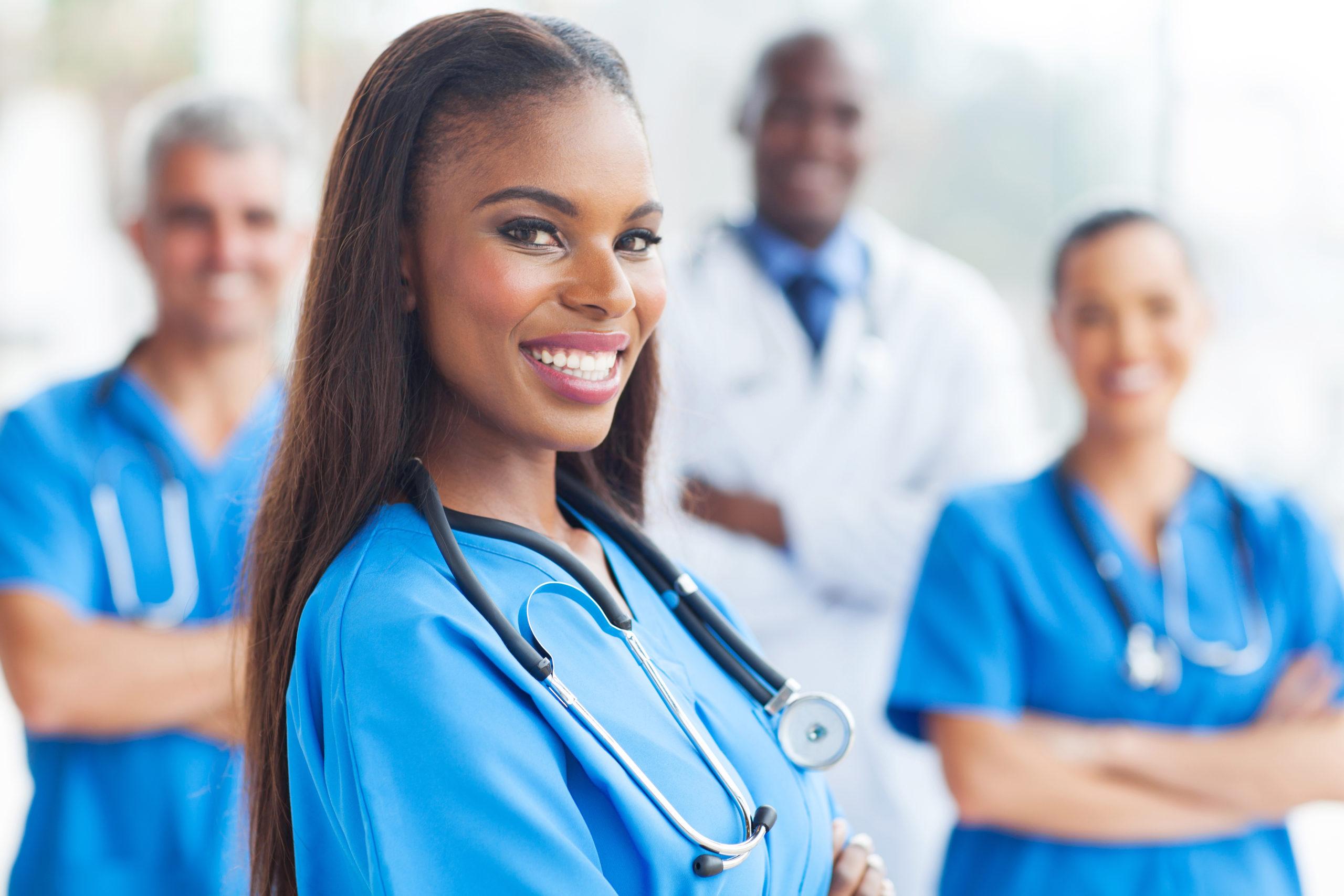 Nurse with a nice smile