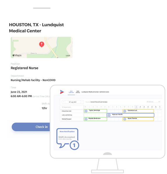 Mobile Application and Portal Desktop Screens