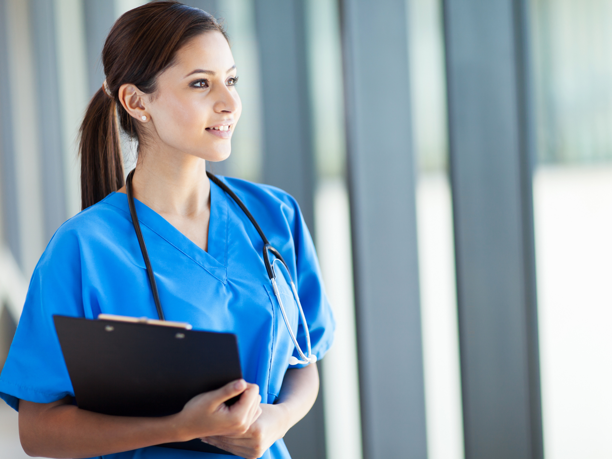 Nurse with a clipboard